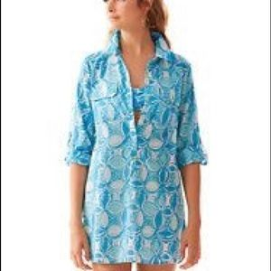 Lilly Pulitzer captiva tunic what a racquet M